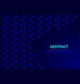 dark blue abstract background with geometric vector image vector image