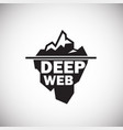 deep web icon on white background vector image vector image