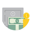 deposit savings icon vector image vector image