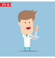Doctor analyse a report - - EPS10 vector image vector image