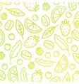 Doodle fruit background vector image vector image