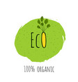 eco fresh vegan bio organic green design vector image vector image