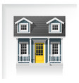elements of architecture with a small house icon vector image