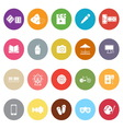 Entertainment flat icons on white background vector image vector image