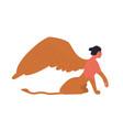 female mythology fantastic creature sphinx vector image vector image