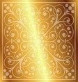Floral Pattern on a Gold Background vector image vector image