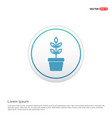 flower pot icon - white circle button vector image