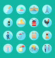 france round icons set vector image vector image