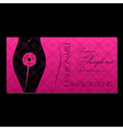 glamour fashion invitation card vector image vector image