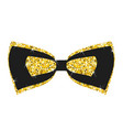gold bow tie vector image