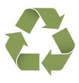 green reuse symbol vector image vector image