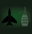 grenade and fighter vector image