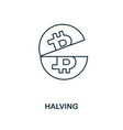 halving outline icon monochrome style design from vector image vector image