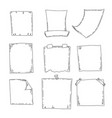 hand drawn sheets of paper cartoon square vector image