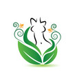 healthy woman body with natural leafs icon vector image
