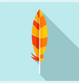 indian feather icon flat style vector image