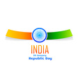 indian republic day design isolated in white vector image