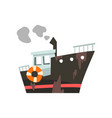 industrial trawler for seafood production fishing vector image vector image