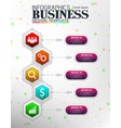 infographics business template concept vector image vector image