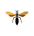 insect icon in flat style isolated on white vector image vector image
