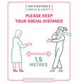 keep social distance vector image vector image