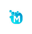 letter m bubble logo template or icon vector image vector image