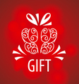 logo gift on a red background vector image
