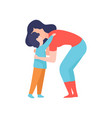 loving mother and her son hugging mom and kid vector image vector image
