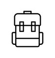 luggage backpack travel icon vector image