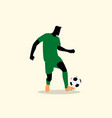 male figure playing soccer vector image vector image