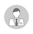 man doctor avatar outline icon on white background vector image vector image