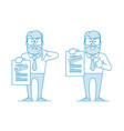 man shows a document vector image vector image