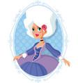 marie antoinette aristocratic baroque cartoon vector image vector image
