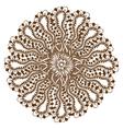 Mehndi Henna Tattoo Mandala vector image vector image