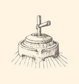 mill stone drawing in miller stuff sketch vector image vector image