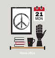 modern home office workspace vector image vector image