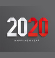 new 2020 year paper greeting carddark background vector image