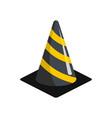 plastic cone icon flat style vector image vector image