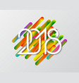 plexus of white numbers 2018 on colorful vector image vector image
