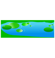 Pond with lilies leaf vector image vector image
