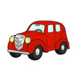 retro car red on white background vector image