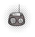 retro radio comics symbol vector image vector image