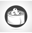 Seafood black round icon vector image