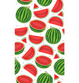 seamless pattern with watermelons slice of vector image vector image