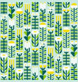 seamless pattern with wild herbs and flowers in vector image