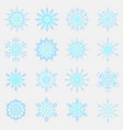 separate snowflakes doodles icon rustic vector image vector image