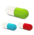 Set colorful pills isolated on white background 2 vector image