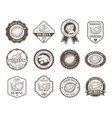 set of black and white badges stickers vector image vector image
