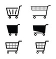 shopping basket empty set design vector image vector image