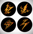 Signs of lightning vector image